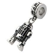 Official Stainless Steel R2-D2 Dangle Drop Bracelet Charm