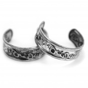 2Pcs Adjustable Toe Ring Girls Women Vogue Summer Beach Foot Jewellery.