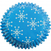 PME Snowflakes Paper Baking Cases for Cupcakes, Mini Size, Pack of 100