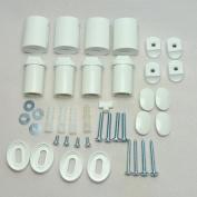 White Heated Towel Rail Bracket Radiator Brackets Flat or Curved High Quality