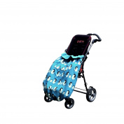 BundleBean Childs Wheelchair Cosy / Special Needs Buggy Cosy - waterproof, fleece, universal fit TEAL PENGUINS