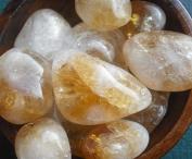 Citrine Yellow Tumblestones Wealth Abundance Luck - Large