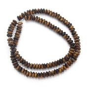Linsoir Beads Brown Tiger Eye Stone Beads Smooth Rondelle Beads 3mmX6mm 130pcs/strand