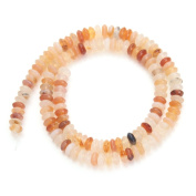 Linsoir Beads Natural Agate Rondelle Beads No Dying Natural Colour 3mmX6mm 130pcs/strand