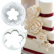 4pcs Peony Petal Mould Cutter Various Sizes Flowers Sugarcraft Cake Decorating