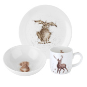 Wrendale by Royal Worcester 3-Piece Side Plate/Bowl and Mug Set, Set of 3
