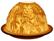 Welink Light-Glow Tealight Candle Holder, Best Friends Dogs
