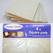 4x Square Self Adhesive Cream Felt Floor Protector Pads.