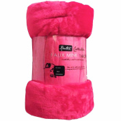 Fleece Faux Fur Roll Mink THROW Throws/ Bed Blanket Beautiful Colours ALL SIZES