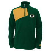 "Green Bay Packers Youth NFL ""Flex"" 1/4 Zip Polar Fleece Sweatshirt"