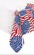Plastic US American Flag Tablecloth, 2.1m x 1.4m