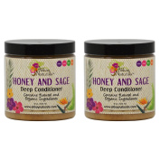 """Alikay Naturals Honey and Sage Deep Conditioner 240ml """"Pack of 5.1cm"""