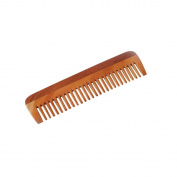 HealthAndYoga(TM) Handcrafted Neem Wood Comb - Anti Dandruff, Non-Static and Eco-friendly- Great for Scalp and Hair health -18cm Wide toothed