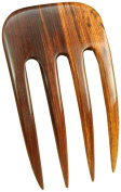 JWL (1) Laos Rosewood Four Prong Curved 13cm Hair Stick Pick Pic Pin Fork - Hawaiian Style