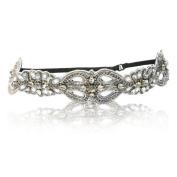 Wedding Bride or Bridesmaid Encrusted Diamond Rhinestone Headband Adjustable Non-slip Comfortable for Wedding Day