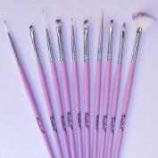 Twinkled T Cotton Dandy Nail Art 10 Pc Brush Set