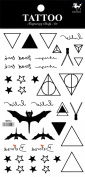 Wonbeauty best and high quality temporary tattoos Different and unique designs and totems long lasting and realistic temporary tattoos including stars,triangles,bats,etc.