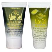 All Terrain Aloe Gel Skin Relief Skin Protectant Gel 2.0 fl oz (60 ml) and All Terrain Aloe Gel Skin Relief Skin Protectant Gel 5.0 fl oz (150 ml) Bundle With 0.5 Allantoin and Moisturising Aloe