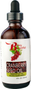 Cranberry Seed Oil - 4 Fl Oz (120 ml) Glass Bottle w/dropper - virgin, unrefined and cold-pressed by Berry Beautiful from US grown cranberry seed
