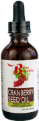 Cranberry Seed Oil - 2 Fl Oz (60 ml) Glass Bottle w/dropper - virgin, unrefined and cold-pressed by Berry Beautiful from US grown cranberry seed
