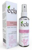 Ecla Rose Water 100% Pure Moroccan Organic for Face, Body & Hair - Best Natural Facial Toner & Moisturiser- 3.4 oz -100 ml