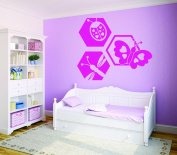 Design with Vinyl RAD 728 3 Ladybug Butterfly Dragonfly Design Baby Girl Teen Bedroom Design Wall Decal, Pink, 50cm x 80cm