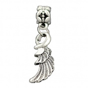 Bling Stars Lucky Charm Dangle Angel Wing Charms Beads Fit Pandora Bracelets