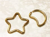 Daith Moon & Daith Star Piercing jewellery, our exclusive design,gold pvc, cartilage jewellery