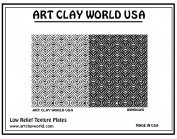 Art Clay World USA Low Relief Texture Windows - 1 Pc.
