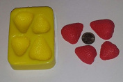 Strawberry Halves Candle & Soap Mould- 4 Cavities