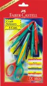 Faber Castell Craft Scissor - Pack Of 4