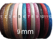YYCRAFT 24 skinny 9mm Glitter Teeth Headbands 12 colours