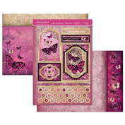 Hunkydory Flight of the Butterflies Jewelled Edition Pink Sapphire - Topper Set