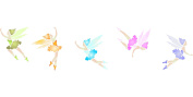 Fairy Border Stencil - (size 30cm w x 6.4cm h) Reusable Wall Stencils for Painting - Best Quality Wall Art Fairies Ideas - Use on Walls, Floors, Fabrics, Glass, Wood, Terracotta, and More...