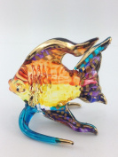 TINY CRYSTAL FISH HAND BLOWN CLEAR GLASS ART FISH FIGURINE ANIMALS GLASS BLOWN FBM05