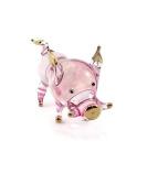 TINY CRYSTAL PIG HAND BLOWN CLEAR GLASS ART PIG FIGURINE ANIMALS GLASS BLOWN FBM03