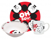 Disney Mickey Hug Me 3-PIece Dinnerware Set