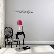 Design with Vinyl Moti 2181 3 Decal - Peel & Stick Wall Sticker : There Once was A Boy who Loved A Girl Quote Bedroom Living Room 25cm es x 100cm es