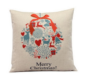 Xmas Gifts to Every Home Cotton Linen Throw Pillow Case Cushion Cover Home Sofa Decorative