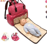 Comcome Multifunctional Mother Bag,Baby Bag,Bolt Belt Bag,With Changing Mat Waterproof Nappy Pad,Infant Changing Pad,Portable Changing Station Nursery Travel Accessories