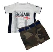 Ralph Lauren Polo Baby Boys England Tee & Camo Shorts Set