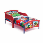 Disney Sturdy Steel Frame Mickey Mouse Plastic Toddler Bed