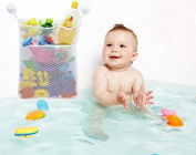 Icollect® Versatile Toys Organiser / Bath Toys Storage Bag for Baby Bath Toys, Nappies, Undies, Toys and More! Includes 2 Super Strong Suction Hooks