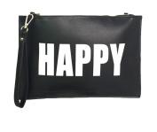 Melie Bianco Clutch Wristlet Cross Body Bags Purse Handbag