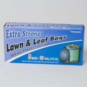 TRASH BAGS 5CT - 147.6l BLACK LAWN AND LEAF, Case Pack of 24