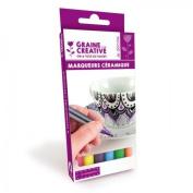 6 ceramic markers - bright colours