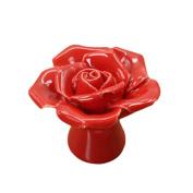 Handle Door Cabinet Vintage Drawer New Knob Rose Flower Ceramic Cupboard Pull Handle