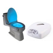 Eazydeal Modern LED Sensor Motion Activated Restroom Nightlight Waterproof Toilet Lights