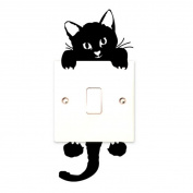 LANDFOX Cat Wall Stickers Light Switch Decor Decals Art Mural Baby Nursery Room