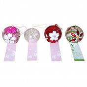 4-piece Pack Handmade Japanese Edo Furin Wind Chime Birthday Valentine's Day Gift Home Decors
